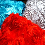 Satin Rosette Backdrops